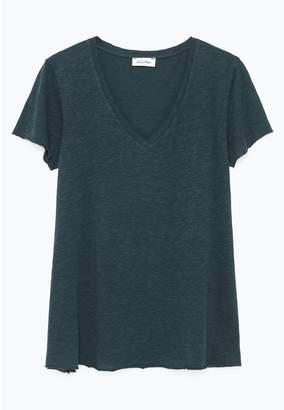 American Vintage Kobibay Cotton Mix T-Shirt with V-Neck