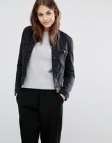 Vero Moda Fleece Collar Denim Jacket