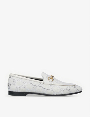 Gucci Jordaan GG lame loafers