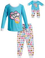 "Dollie & Me Girls 4-14 Sleep Time"" Smiley Face Top & Bottoms Pajama Set"