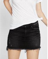 Express mid rise raw hem mini skirt
