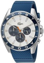 Lacoste Men's 45mm Blue Silicone Band Steel Case Quartz Dial Chronograph Watch 2010854