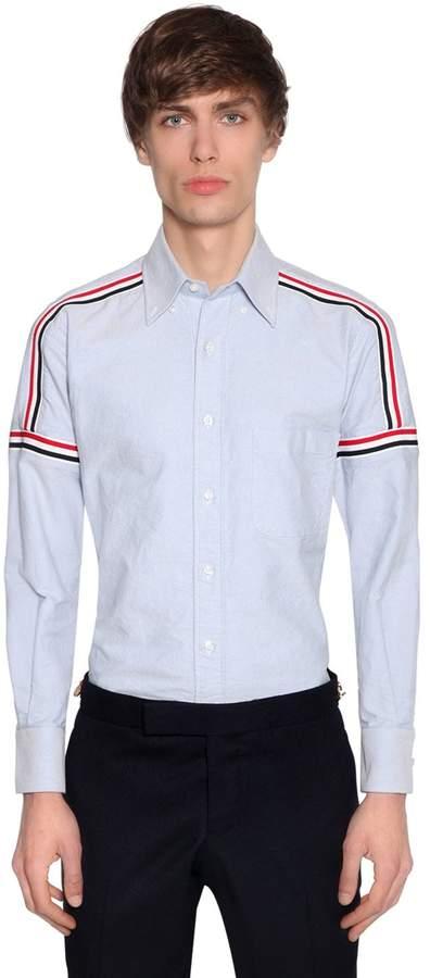 Thom Browne Elastic Stripes Cotton Oxford Shirt