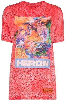 Heron Preston Heron birds print T-shirt
