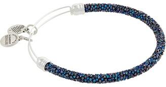 Alex and Ani Swarovski Bermuda Blue Fine Rocks Bangle Bracelet (Blue) Bracelet