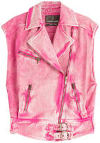Roberto Cavalli Washed Denim Vest