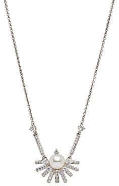 Nadri Ambrosia Cubic Zirconia & Imitation Pearl Starburst Small Statement Necklace, 16-18