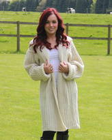 Wensleydale Woolies Hand Knitted Cable Coat