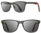 Shwood Men's 'Canby' 54Mm Titanium & Wood Sunglasses - Black/ Walnut