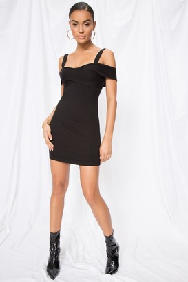 superdown Evie Cold Shoulder Mini Dress