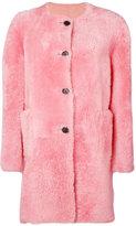 Marni shearling lined coat - women - Sheep Skin/Shearling - 40