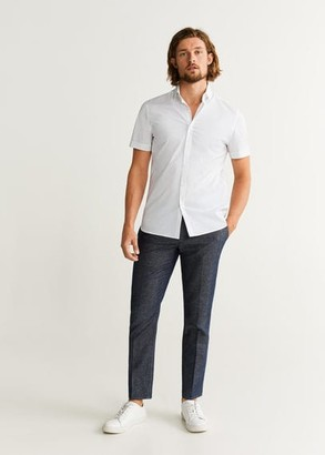 MANGO Slim fit stretch cotton shirt