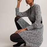 Thumbnail for your product : La Redoute Collections Zebra Print Shirt Dress with Long Sleeves