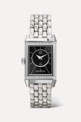Jaeger-LeCoultre Jaeger Lecoultre Reverso Classic Duetto Small Stainless Steel And Diamond Watch - Silver