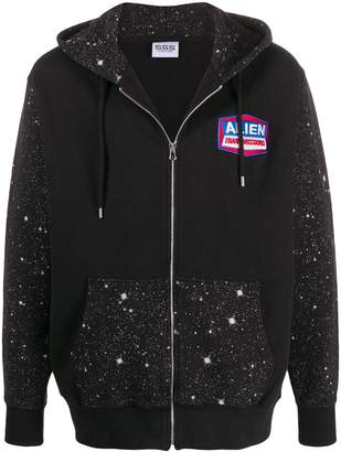 SSS World Corp Alien contrast embroidered hoodie