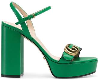 Gucci Platform sandal with Double G