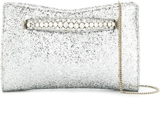 Jimmy Choo Venus glitter clutch bag