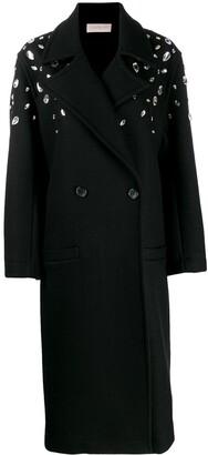 Christopher Kane Crystal Gem Wool Coat
