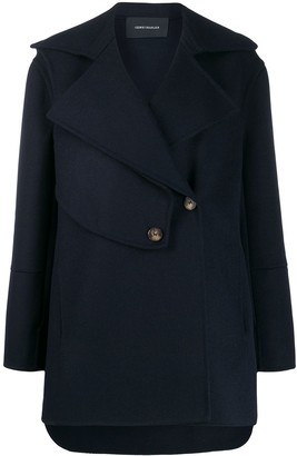 Cédric Charlier Short Panelled Coat