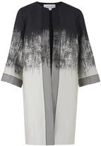 Amanda Wakeley Brushstroke Black Jacquard Degrade Coat