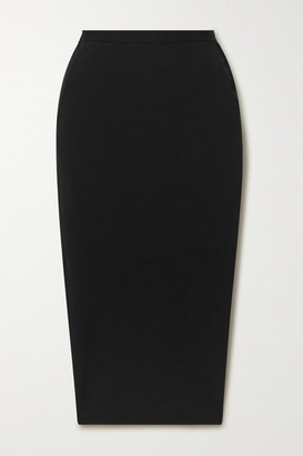 Rick Owens Pillar Stretch Cotton-blend Cloque Midi Skirt