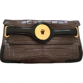 Balenciaga Brown Exotic leathers Clutch bag