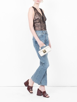 ALEXACHUNG Straight Fit Jeans
