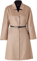 Fendi Camel Cashmere Coat with Studded Leather Belt