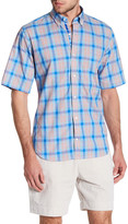 Tailorbyrd Short Sleeve Print Trim Fit Woven Shirt