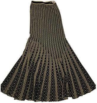Roberto Cavalli Navy Wool Skirt for Women