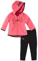 Under Armour Baby Girls Big Logo Hoodie Jacket and Capri Pants Set