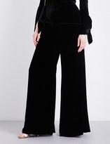 Roland Mouret Uppingham wide-leg high-rise velvet trousers