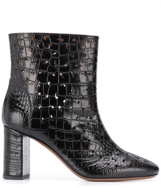 L'Autre Chose Embossed Crocodile Boots