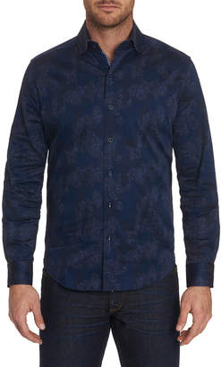 Robert Graham Men's Lee Patterned Sport Shirt with Contrast Detail
