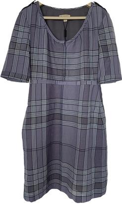 Burberry Blue Wool Dresses