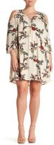 Blu Pepper Long Sleeve Floral Print Dress (Plus Size)