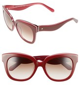 Kate Spade Women's 'Amberly' 54Mm Cat Eye Sunglasses - Black