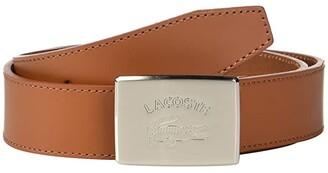 Lacoste Retro Big Croc Buckle Belt (White/Patisson/Woodpecker) Men's Belts