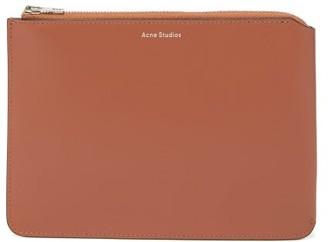 Acne Studios Malachite Foiled-logo Small Leather Pouch - Beige