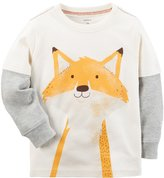 Carter's Baby Boy Mock-Layer Fox Tee