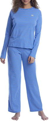 Lauren Ralph Lauren Striped Knit Pajama Set