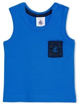Petit Bateau Baby boys tank top with contrasting pocket