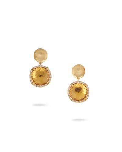 Marco Bicego Jaipur Drop Earrings with Citrine & Diamonds