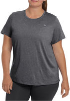 Champion Short Sleeve V Neck T-Shirt-Womens Plus