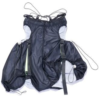 Shii Said Double Layered Drawstring Skirt In Black