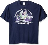 """Disney Men's Big and Tall Buzz Lightyear """"There Seems to Be No Sign of Intelligent Life Anywhere"""" T-Shirt"""