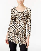 JM Collection Animal-Print Top, Only at Macy's