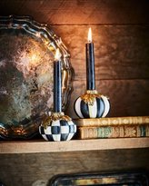 Mackenzie Childs MacKenzie-Childs Courtly Stripe Pumpkin Candlesticks, Set of 2