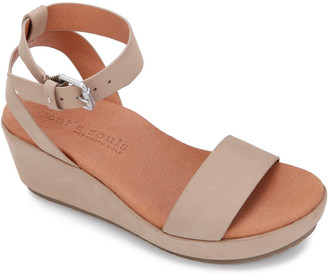 Gentle Souls By Kenneth Cole Morrie Leather Wedge Sandal