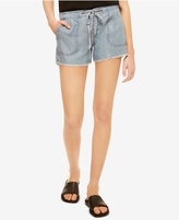 Sanctuary Chambray Drawstring Shorts